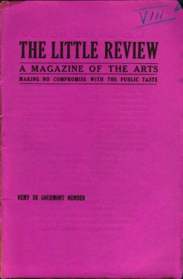 the little review a magazine of the arts - the CDI home page.