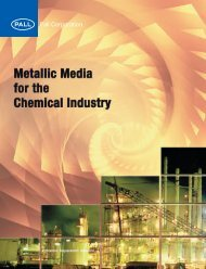 Metallic Media for the Chemical Industry - Pall Corporation