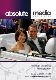 Premium Wedding Photography - Absolute Media North East