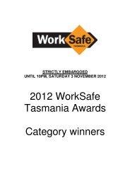 strictly embargoed until 10pm, saturday 3 ... - Tasmanian Times