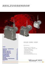 Seilzug - Serie SX50 / SX80 / SX120 - ME-Meßsysteme GmbH