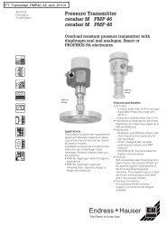 Pressure Transmitter cerabar M PMP 46 cerabar M PMP 48
