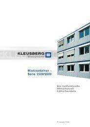 Mietcontainer - Serie 2500/3000 - M U L T I G O N E