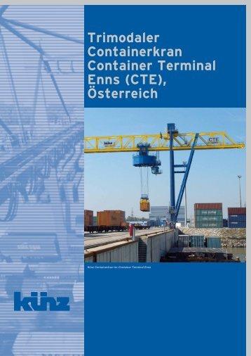 Trimodaler Containerkran Container Terminal ... - Hans Künz GmbH