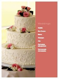 Wedding Package - Nourish Events