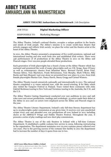 digital marketing manager job description pdf