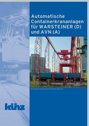 Automatische Containerkrananlagen für ... - Hans Künz GmbH