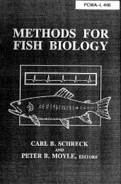 Methods for Fish Biology - Middle Fork American River Project ...