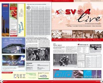 Sonntag, 1. Juni 2008, 15.00 Uhr - SV 04 Attendorn e.V.