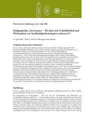 Governance - Wie lässt sich Verbindlichkeit und Wirksamkeit von ...