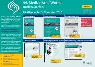 40 - Medizinische Woche Baden Baden