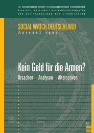 Social Watch Deutschland Report 2006 PDF - Werkstatt Ökonomie