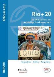 Rio+20 Report - Terre des Hommes