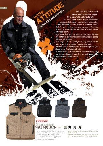 Catalogue vêtements de travail LAFONT - Gamme