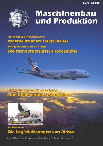 Fachbereich - Department Maschinenbau und Produktion - HAW ...
