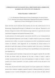 L'IMPIEGO DI TESSUTI ECOLOGICI NELLA ... - Tessile e Salute