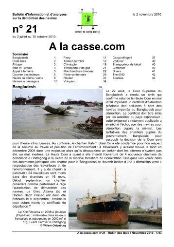 n° 21 A la casse.com - Robin des Bois