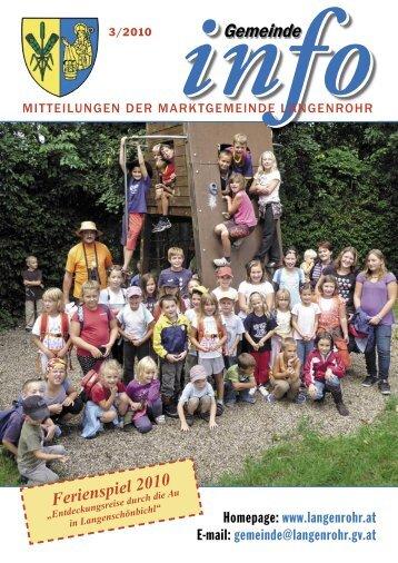 Gemeinde-Info (2,23 MB) - Marktgemeinde Langenrohr