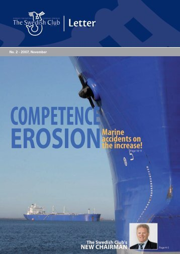 Marine accidents on the increase! - The Swedish Club