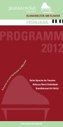PROGRAMM 2012 - Scharwenka Stiftung