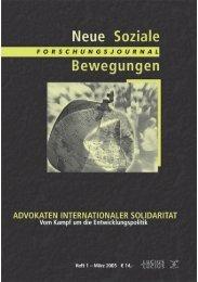 Vollversion (1.69 MB) - Forschungsjournal Neue Soziale Bewegungen