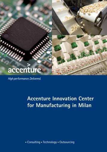 Accenture Innovation Center for Manufacturing in Milan