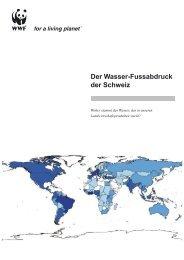 Der Wasser-Fussabdruck der Schweiz - Water Footprint Network