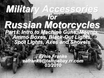 Military Accessories Russian Motorcycles