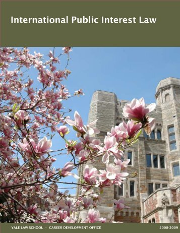 International Public Interest Law - Yale Law School - Yale University