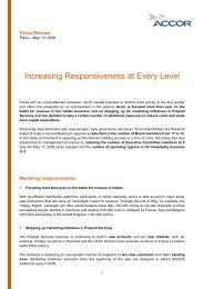 Increasing Responsiveness at Every Level