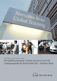 Die Qualifizierungswege: Vertrieb von Service und Teile ... - Daimler