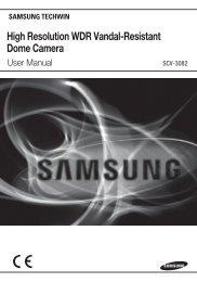 High Resolution WDR Vandal-Resistant Dome Camera - Samsung