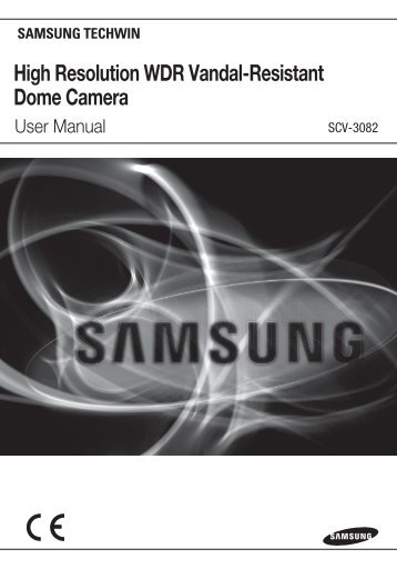 High Resolution WDR Vandal-Resistant Dome Camera - Samsung