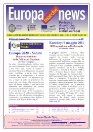 EUROPA NEWS n.111 del 27/ 05 / 2011 - Europe Direct Marche
