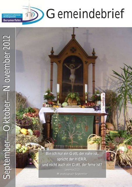 Gemeindebrief September-November 2012