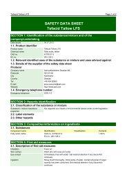 SAFETY DATA SHEET Tefacid Tallow LFS - AAK