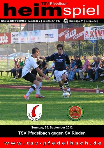 TSV Pfedelbach gegen SV Rieden
