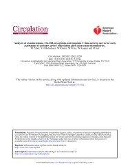 Analysis of Creatine Kinase,CK-MB, Myoglobin, and ... - Circulation