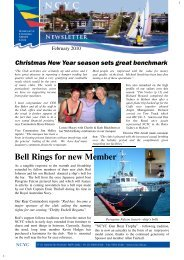 Bell Rings for new Member - Newcastle Cruising Yacht Club