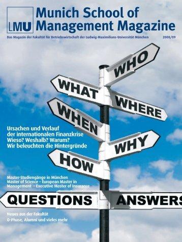 LMU Munich School of Management Magazine 2008/09
