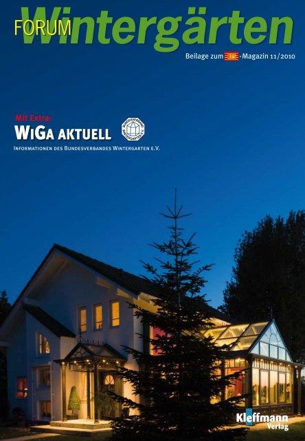 WIGA AKTUELL - Bundesverband Wintergarten e.V.