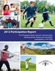 2012 Participation Report - Physical Activity Council