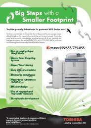 Big Steps with a Smaller Footprint - Toshiba
