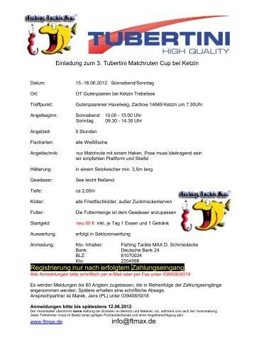 3. Tubertini Matchruten Cup Ketzin - Champions-Team