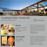 Veranstaltungskalender Oktober bis Dezember 2012
