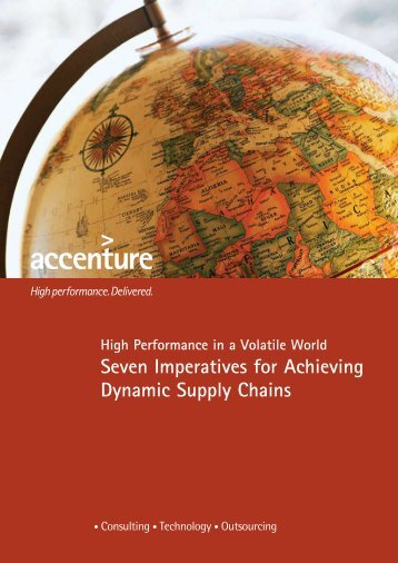 Seven Imperatives for Achieving Dynamic Supply Chains