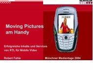 Moving Pictures am Handy: Erfolgreiche Inhalte und Services