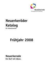 Neuerkeröder Katalog Frühjahr 2008 - NeuErkerode