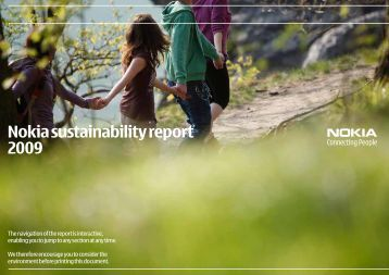 pdf Nokia Sustainability Report 2009