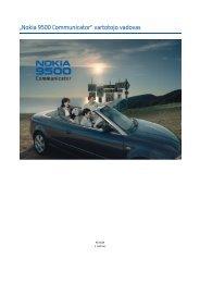 """Nokia 9500 Communicator"" vartotojo vadovas - File Delivery ..."